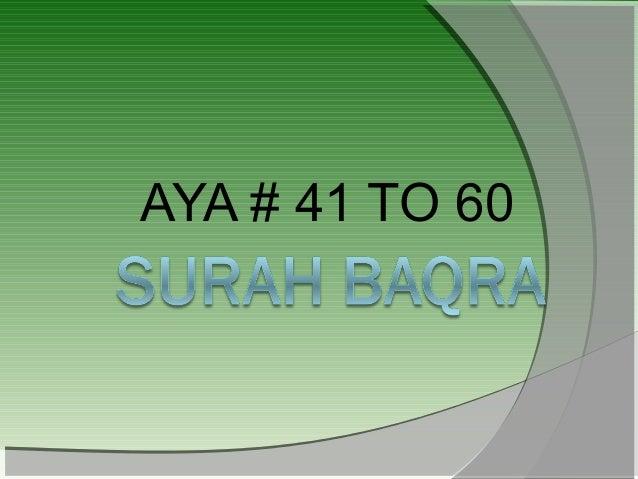 AYA # 41 TO 60