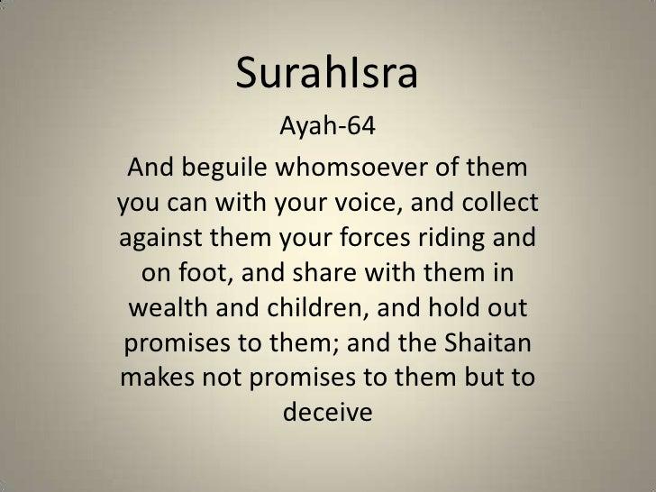 Surah Isra 64