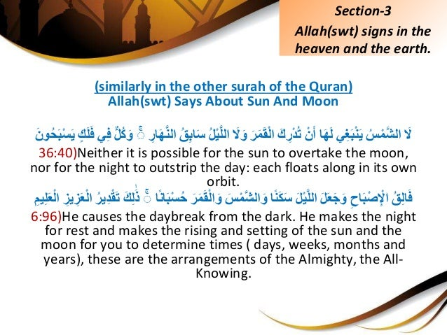 (similarly in the other surah of the Quran) Allah(swt) Says About Sun And Moon ََِّلُِّسَّْمشاليِغَبْنَ...