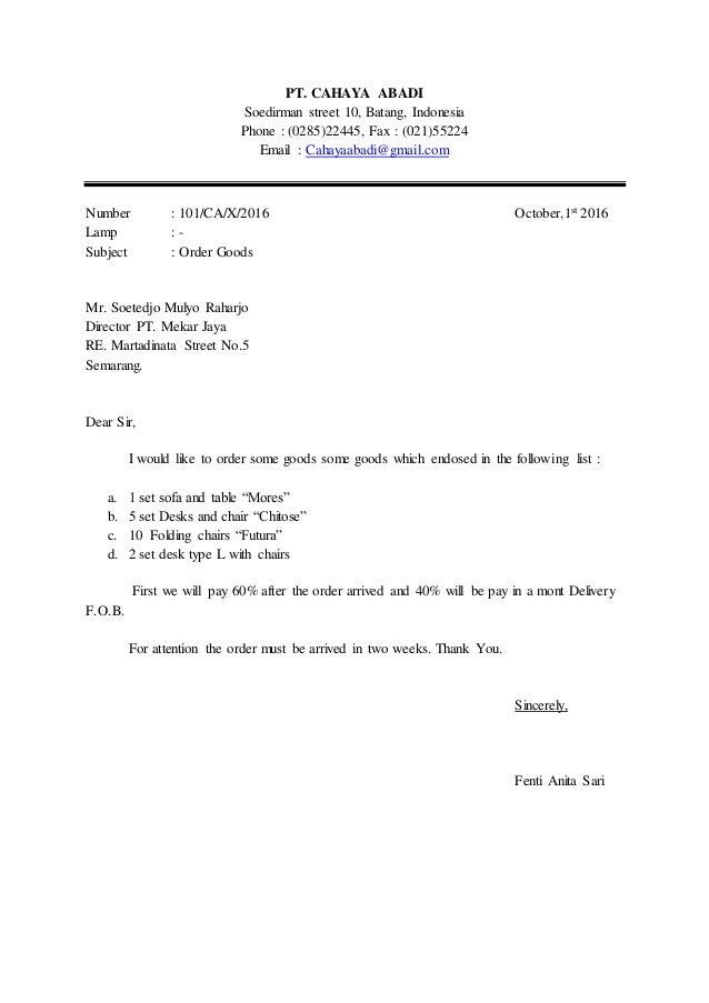 Surat Bahasa Inggris Fenti Anitasari