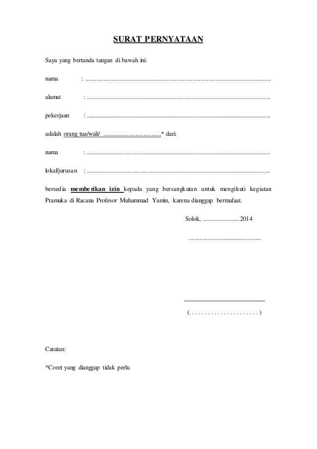 Surat Izin Orangtua