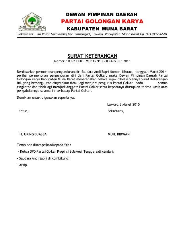 Surat Surat Golkar Mubar