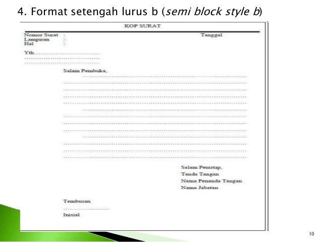 contoh bentuk surat bentuk lurus surat f
