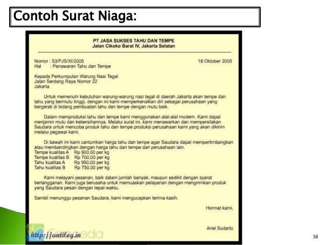 Surat Dalam Bahasa Indonesia