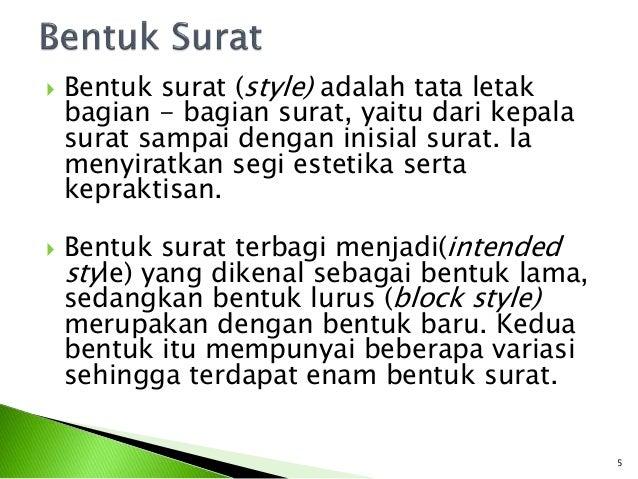 Image Result For Bentuk Bentuk Surat By Korespondensi Bahasa Indonesia On