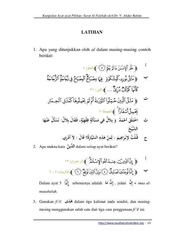 Kumpulan Ayat Ayat Pilihan Surat Al Fatihah
