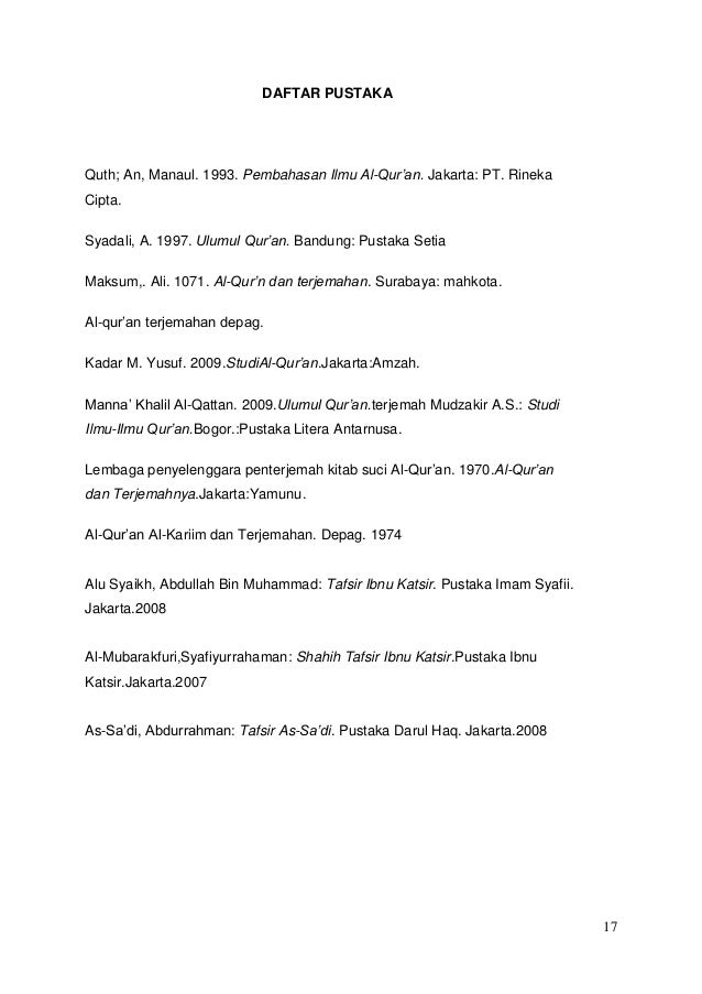 Makalah Mengenai Surat Al Fatihah
