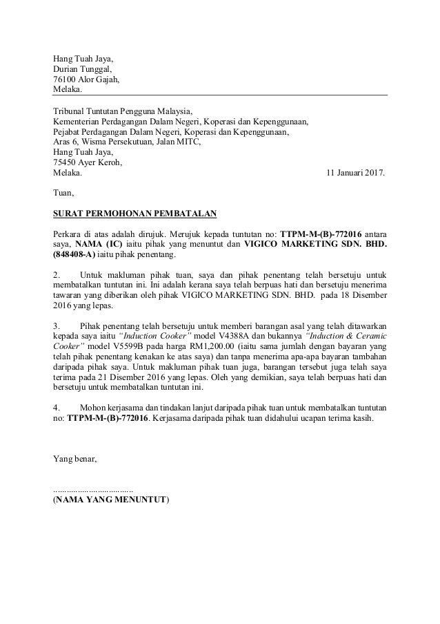 contoh surat rasmi pembatalan pembelian rumah frog slinger