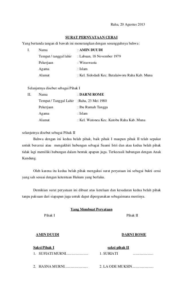 Surat cerai