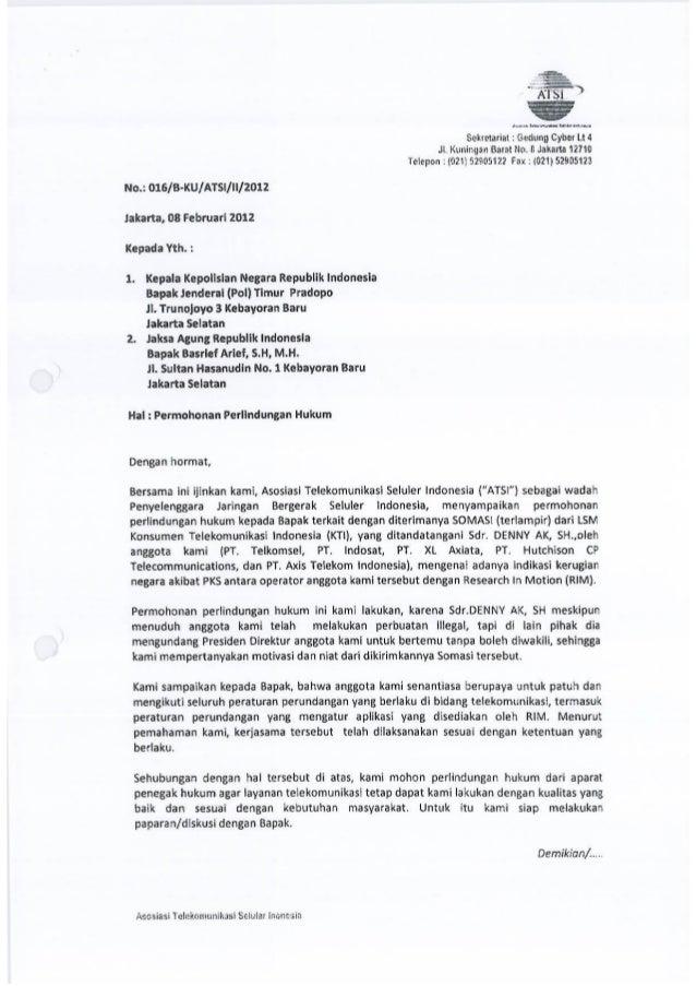 Surat Dari Atsi Permohonan Perlindungan Hukum Feb 12