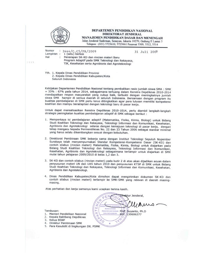 Surat edaran skkd new