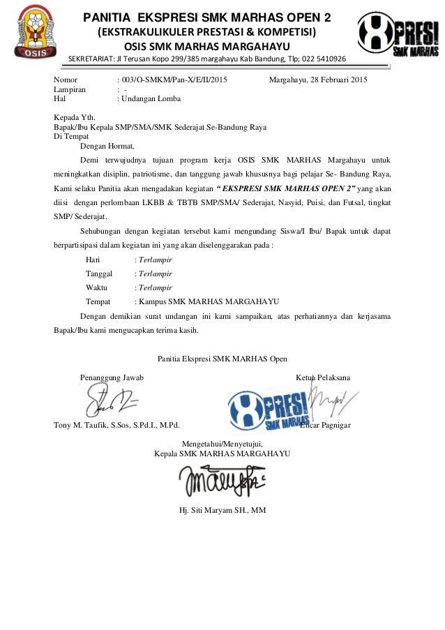 Surat Ekspresi Marhas Resmi Dan Petunjuk Awal