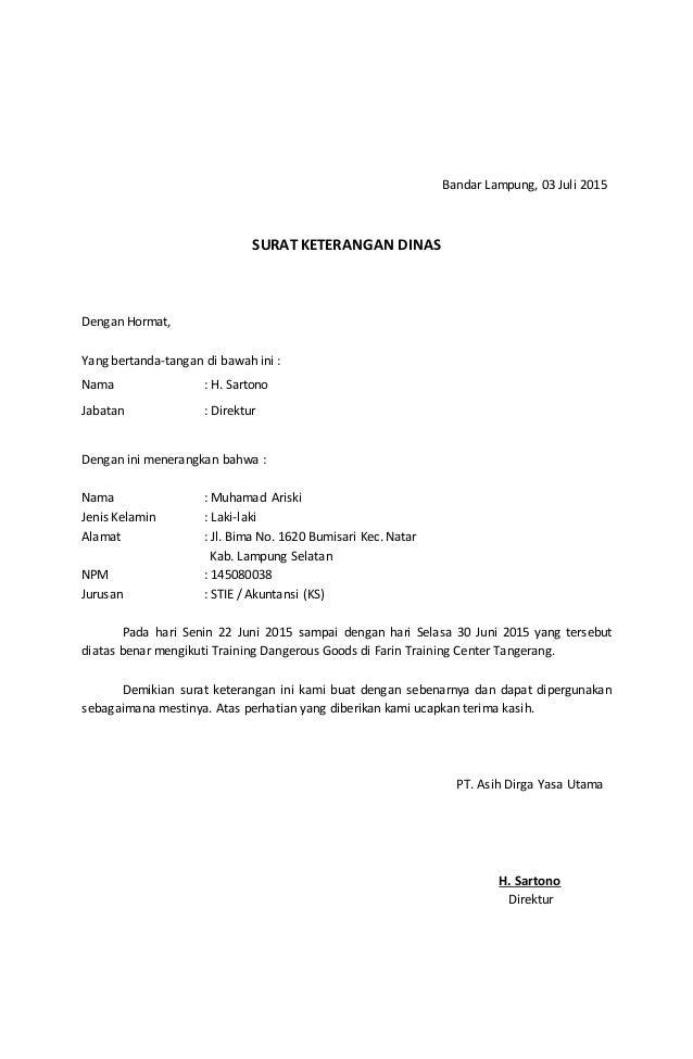 Surat izin Kuliah