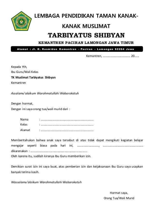 Surat Izin Tk Tarshib