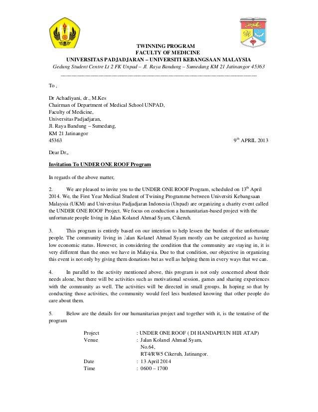 surat rasmi jemputan perasmian surat f