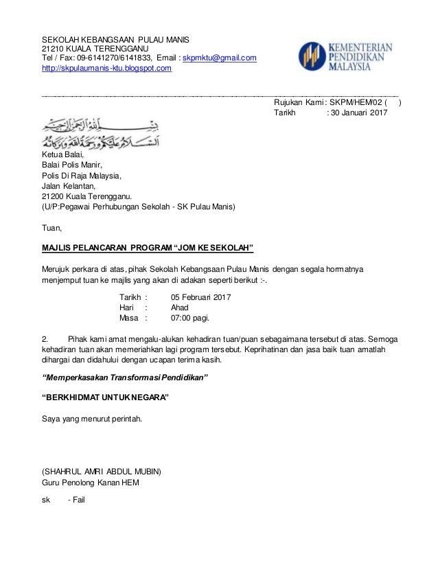 Contoh Surat Jemputan Rasmi Kepada Menteri F Kebaya