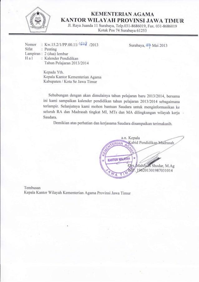 KEMENTERIAN AGAMAKANTOR WILAYAH PROVINSI JAWA TIMURJl. Raya Juanda 1 1 Surabaya, Telp.03 1-8686019, Fax. 031-8686019Kotak ...
