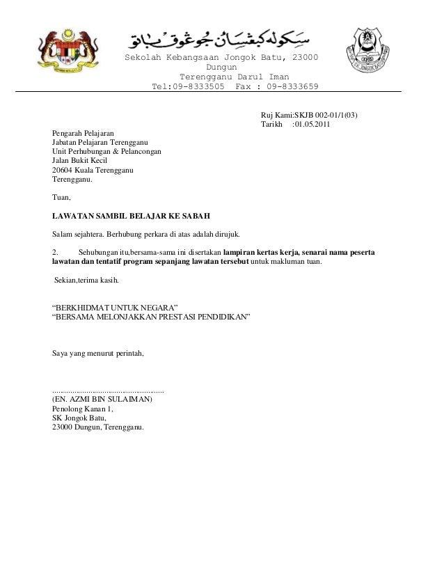 Sekolah Kebangsaan Jongok Batu, 23000 Dungun Terengganu Darul Iman Tel:09-8333505 Fax : 09-8333659 Ruj Kami:SKJB 002-01/1(...