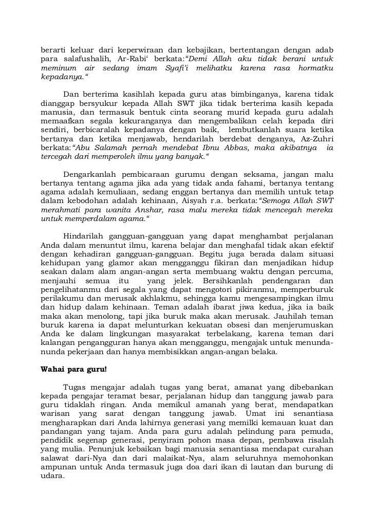 Surat Kepada Guru Dan Murid