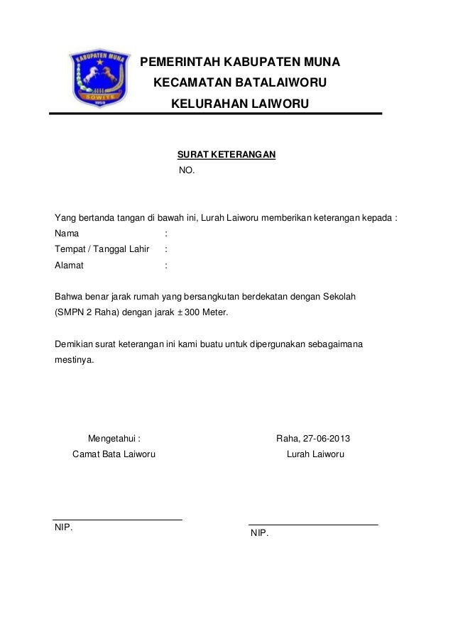 Contoh Surat Domisili Rt Rw - Surat 8