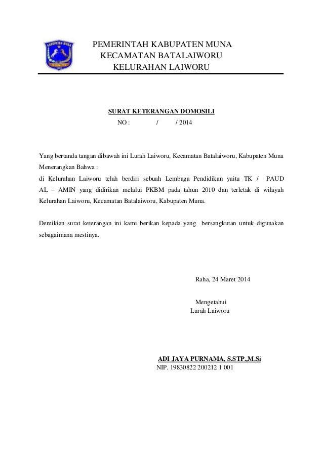 Surat keterangan domisili kelurahan download