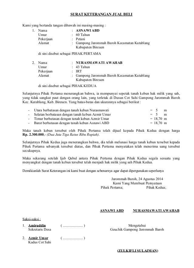 23+ Surat Jual Beli Rumah Ahli Waris Pics | SiPeti