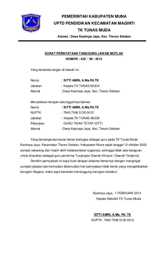 Surat keterangan melaksanakan tugas