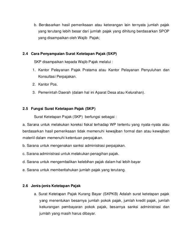 Surat Ketetapan Pajak Dan Surat Keputusan Paper Riama