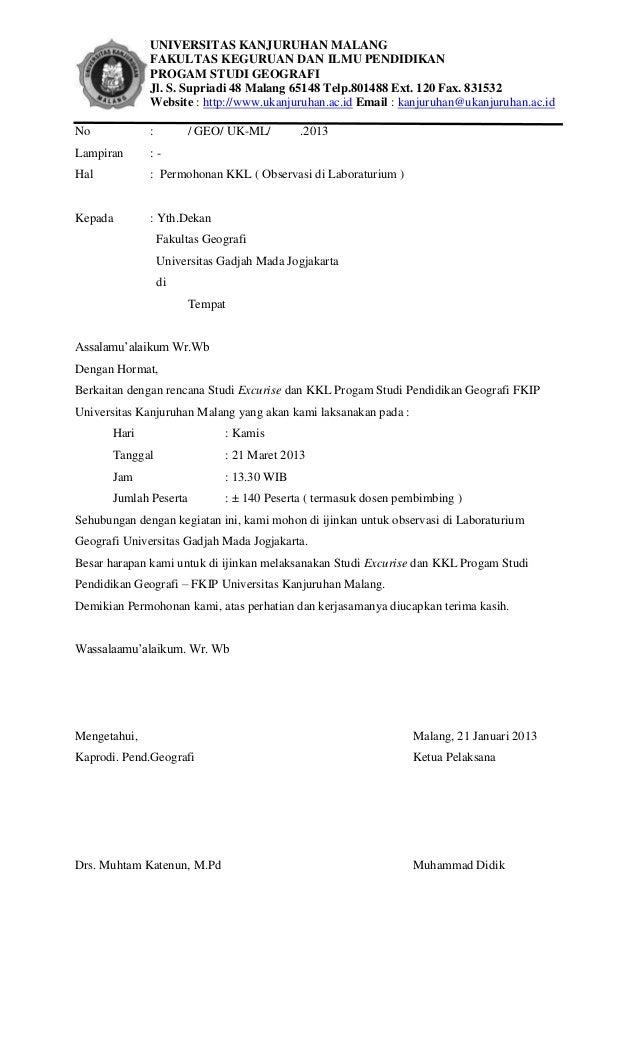 Surat Kkl Ugm