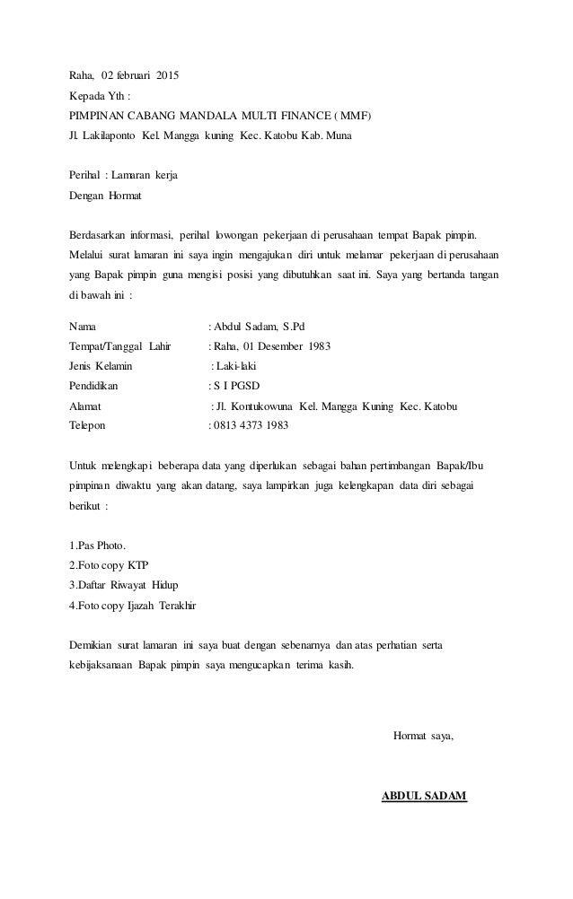 99 Contoh Surat Lamaran Kerja Customer Service Telkomsel