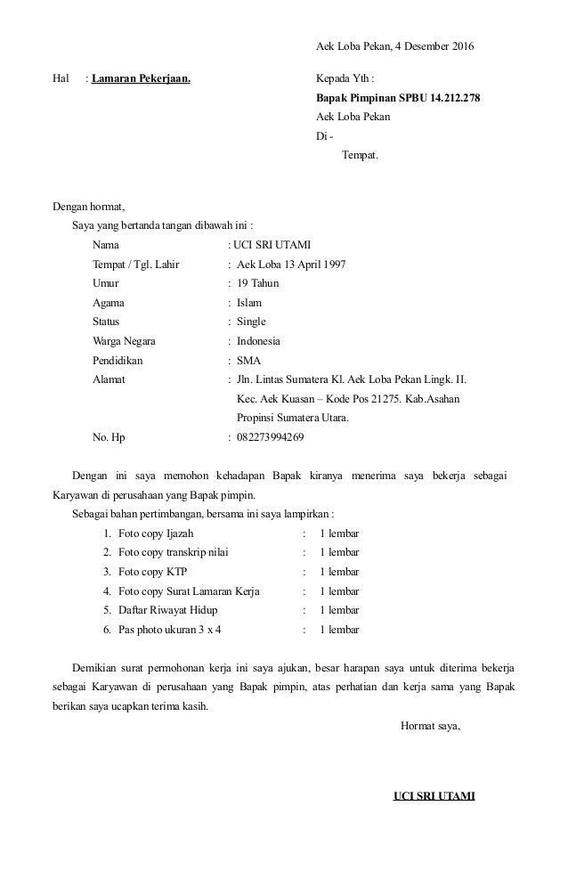 Surat Lamaran Kerja Khairuddin1