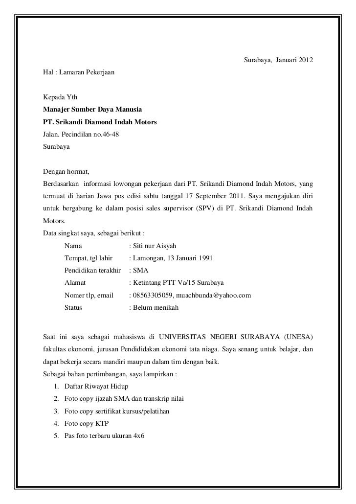 Contoh Essay Diri Untuk Melamar Pekerjaan Essay Writing For Students