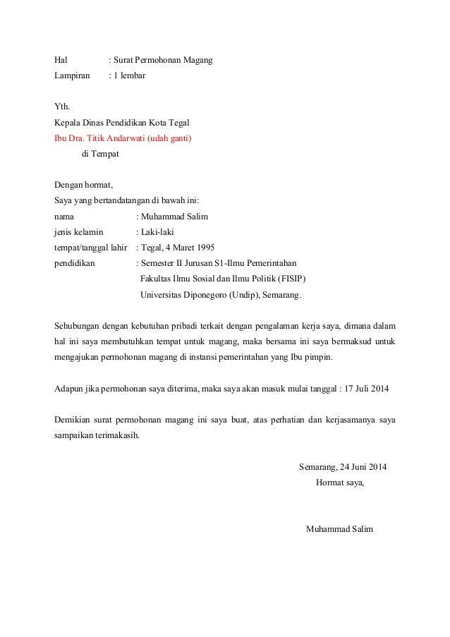 Surat Magang (pribadi)