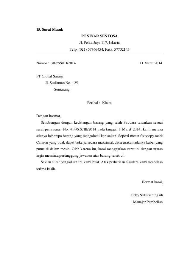 43++ Contoh surat keluar perusahaan elektronik terbaru terbaru