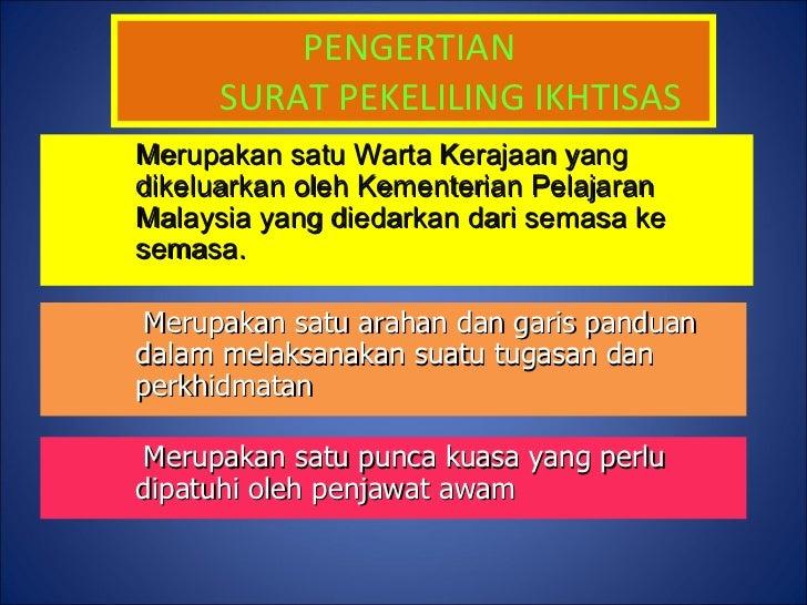 Surat Pekeliling Ikhtisas kOKURIKULUM Slide 2