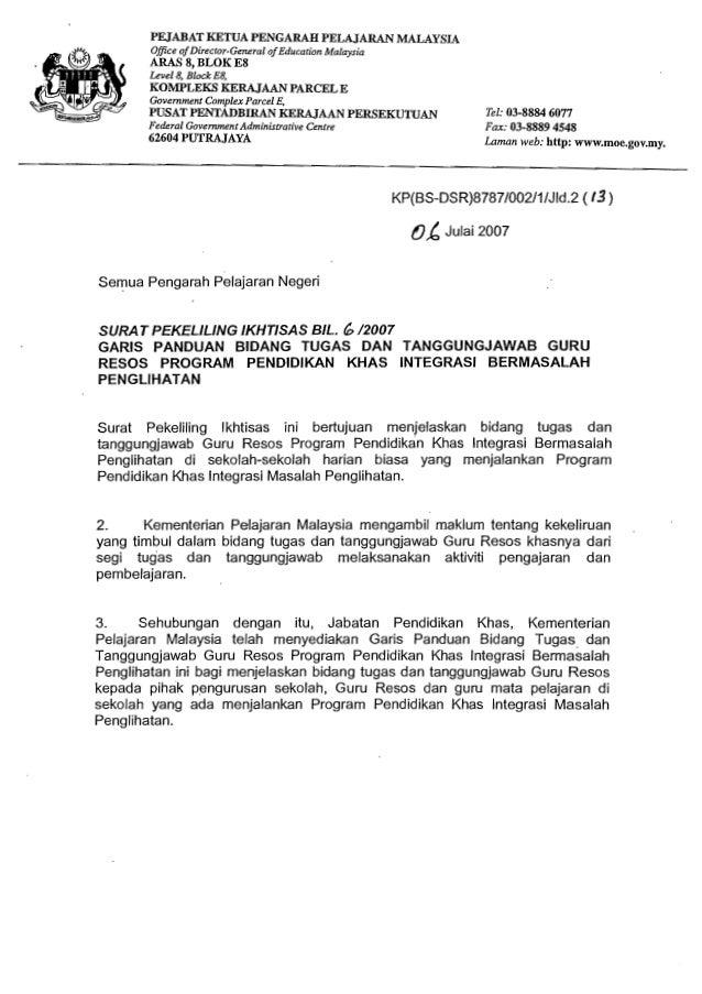 Surat Pekeliling Ikhtisas Bil 6 2007