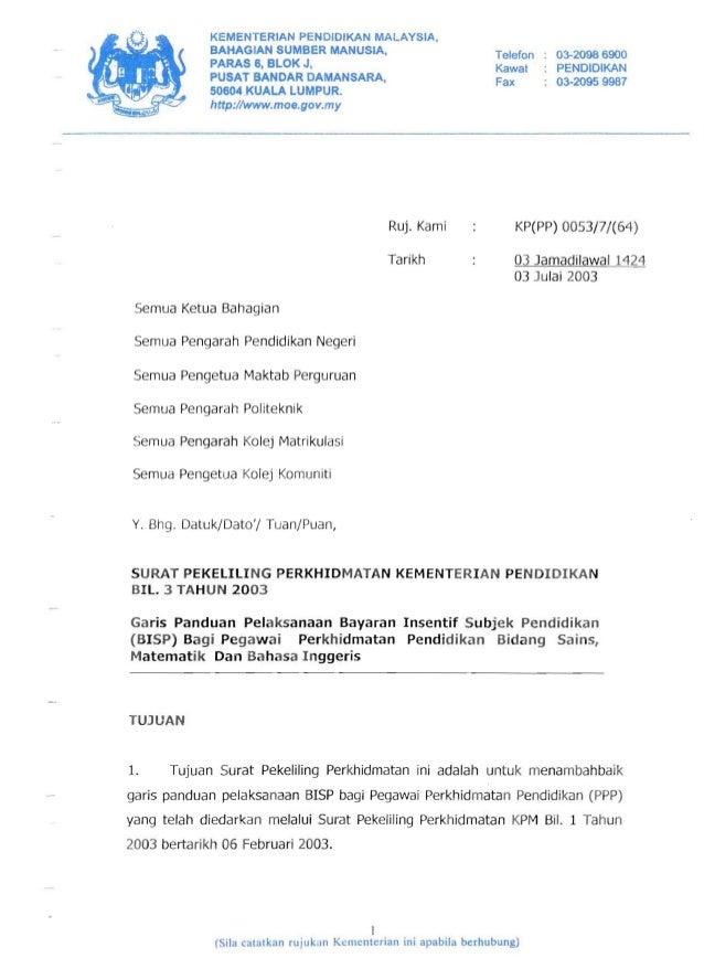 KEMENTERIAN PENOIDIKAN MALAYSIA,             BAHAGIAN SUMBER MANUSIA.                              Telefon   03-2098 6900 ...