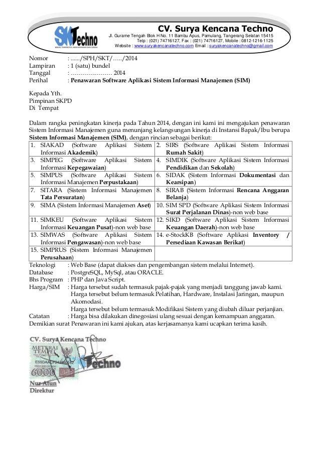 surat penawaran cv  skt tahun 2015