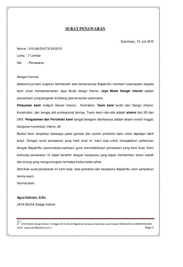 Surat Penawaran Ke Customer