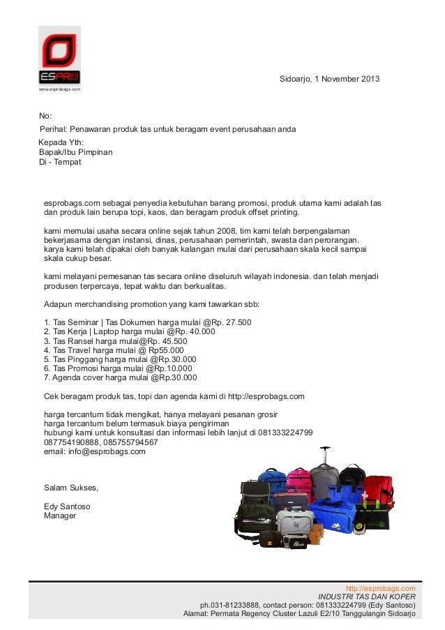 Surat Penawaran Tas Espro
