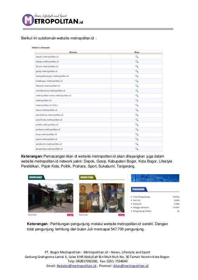 Contoh Surat penawaran website