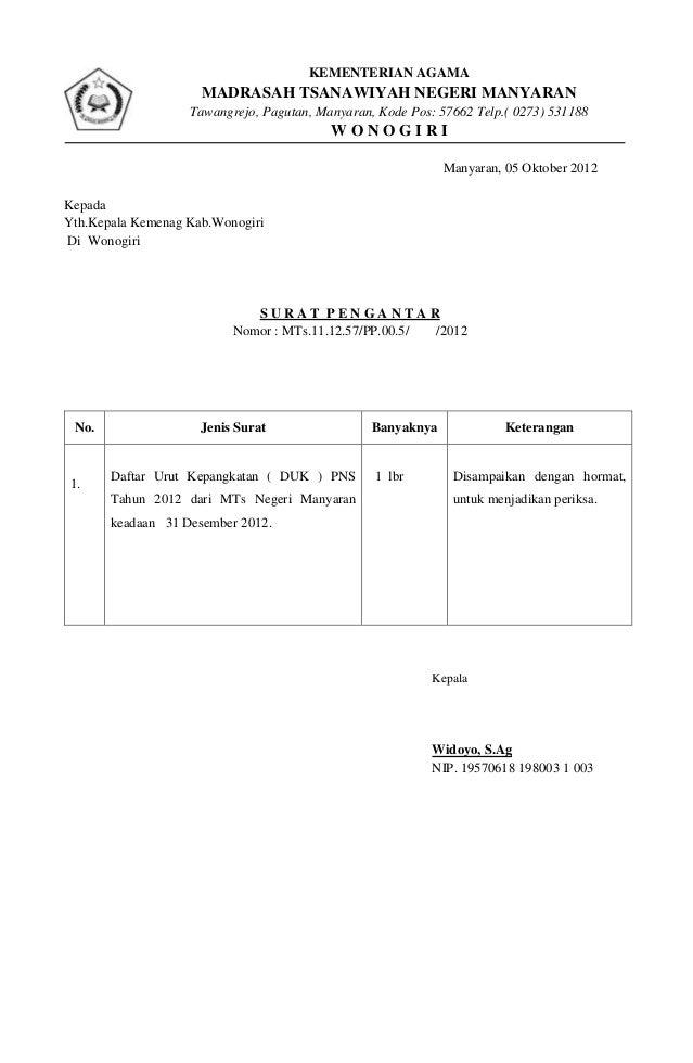 Surat Pengantar Karlapa Ponderresearch Co