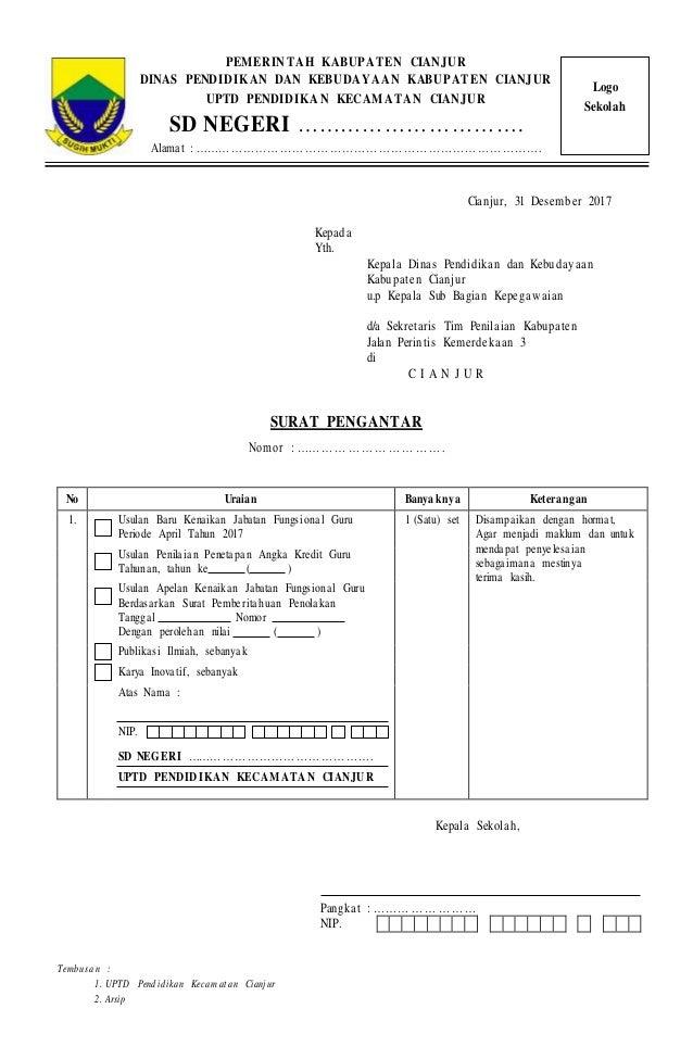 Kop Surat Dinas Pendidikan Kabupaten Cianjur - Contoh Kop ...