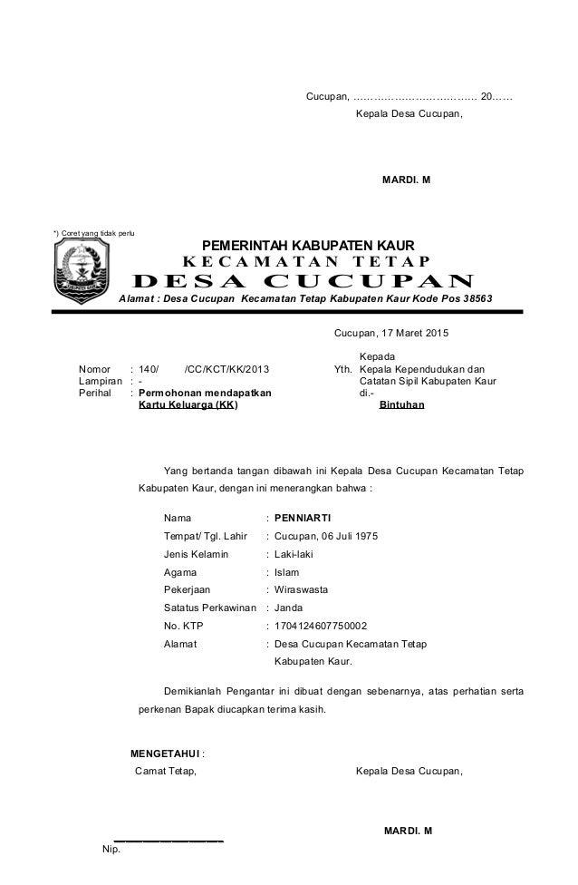 contoh surat pernyataan kematian contoh qos