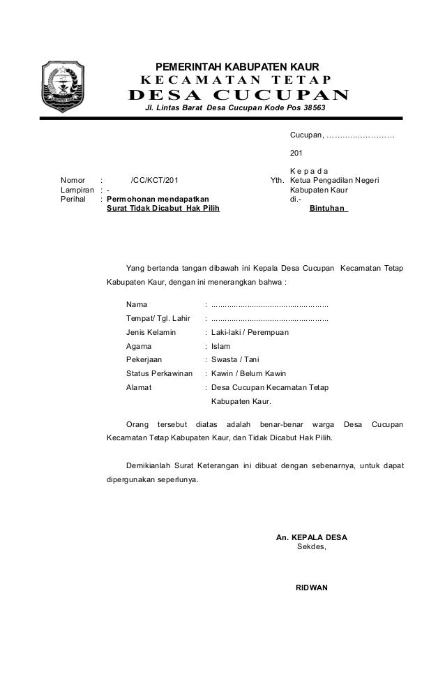 Contoh Surat Pernyataan Kepala Sekolah - Fontoh