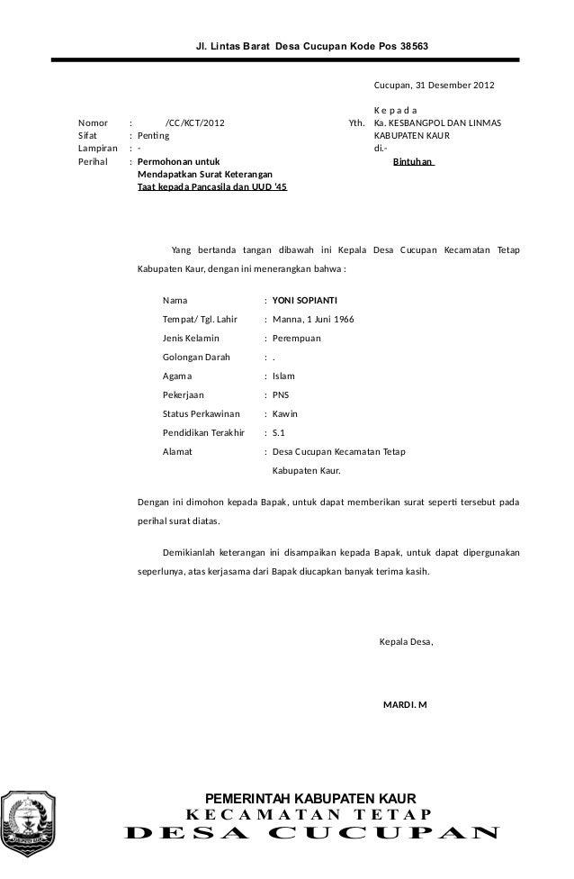 contoh surat undangan kepala desa surat 5