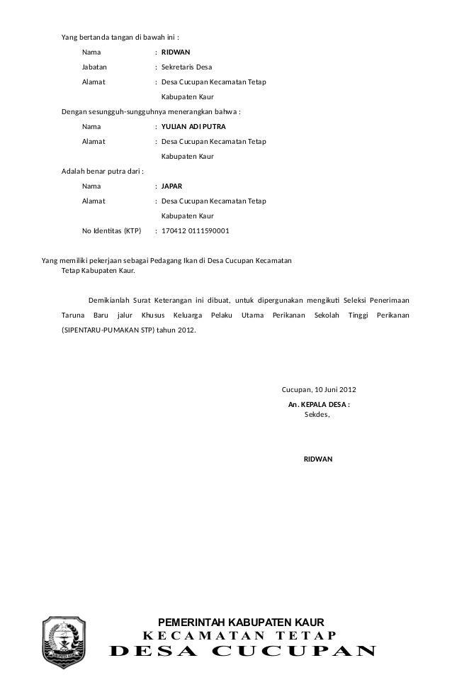contoh surat pengantar cerai dari rt surat p