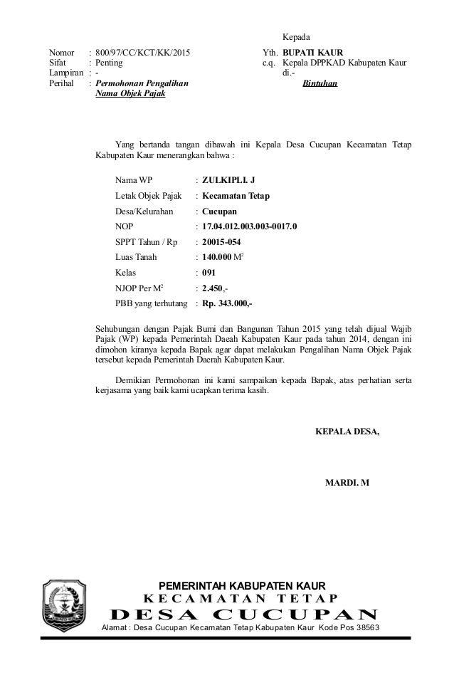 Contoh Surat Permohonan Sk Bupati - 28 images - Surat