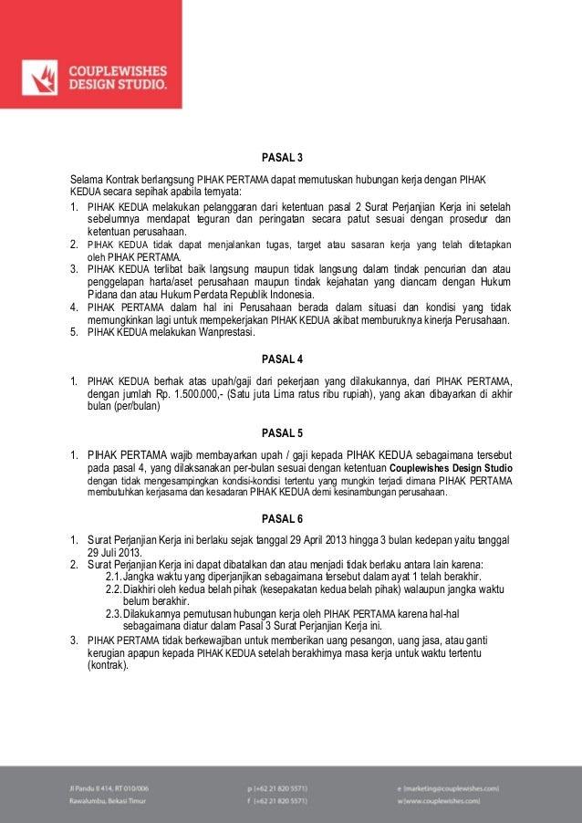 Surat Perjanjian Kontrak Kerja Freelance 2013 Cds Worldwide