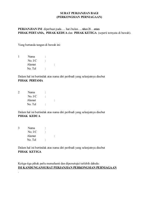 Surat Perjanjian Perkongsian